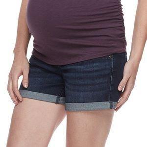 A:Glow Maternity Denim Cuffed Shorts Sz 10